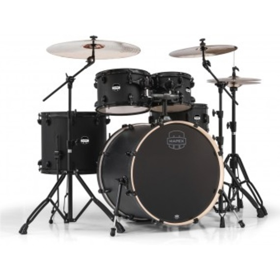 "Mapex Mars Drum Kit Inc. Hardware 22"" Rock Fusion - Nightwood"