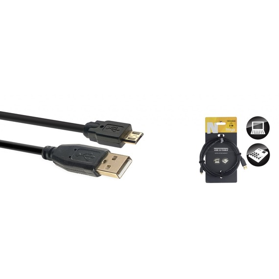 Stagg N Series USB Cable USB A - MICRO USB B - 3 Metre