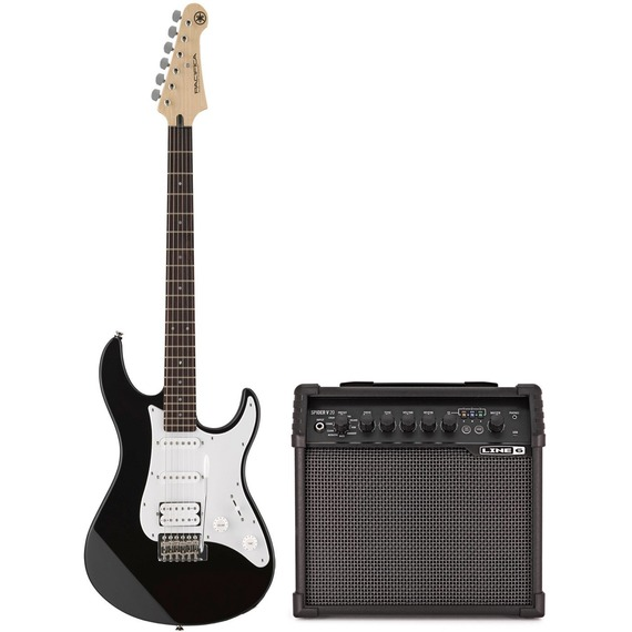 yamaha pacifica 012 spider 20 electric guitar pack black giggear. Black Bedroom Furniture Sets. Home Design Ideas