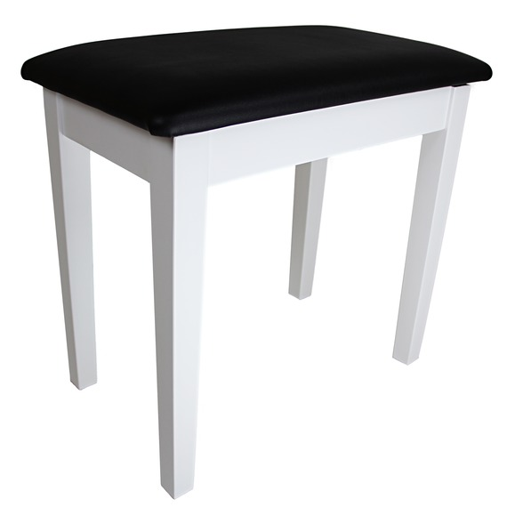 Stagg Piano Bench with Lift up Top - Matte White