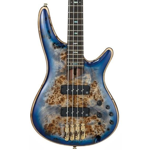 Ibanez Premium SR2600 4-String Bass Guitar - Cerulean Blue Burst
