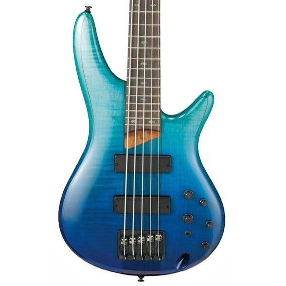 Ibanez SR875 5-String Bass Guitar - Blue Reef Gradiation