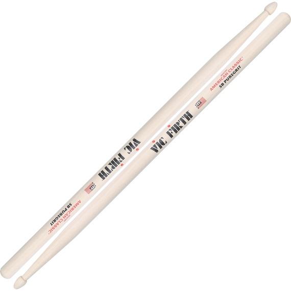Vic Firth 5B PureGrit Drumsticks - Wood Tip