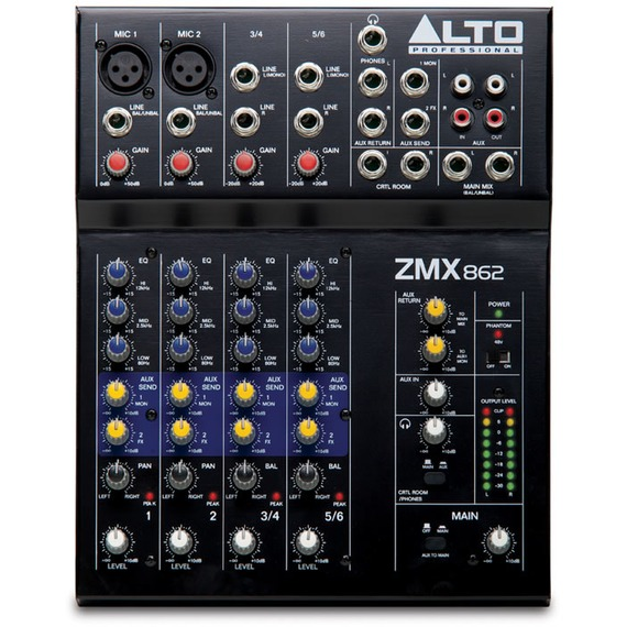 Alto ZMX862 6 Channel Mixer