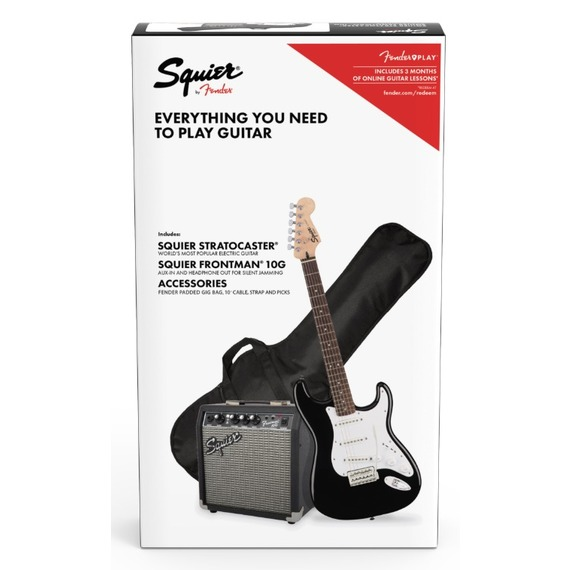 Squier Strat Package with 10G Amp