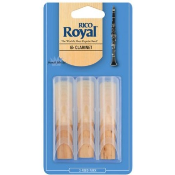 Rico Royal Bb Clarinet Reeds 3 Pack