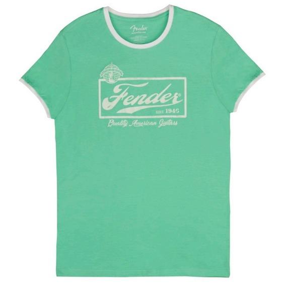 Fender T-Shirt - Beer Label / Surf Green