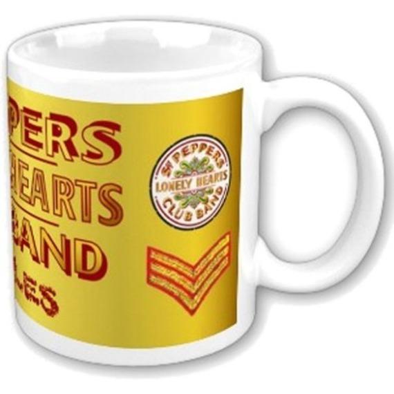 Official Beatles Boxed Mug - Sgt Pepper Logo