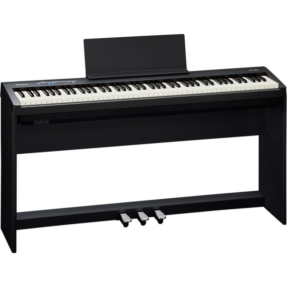 Roland FP30 Digital Piano Bundle Deal - Includes Stand and 3 Pedal Unit - Black