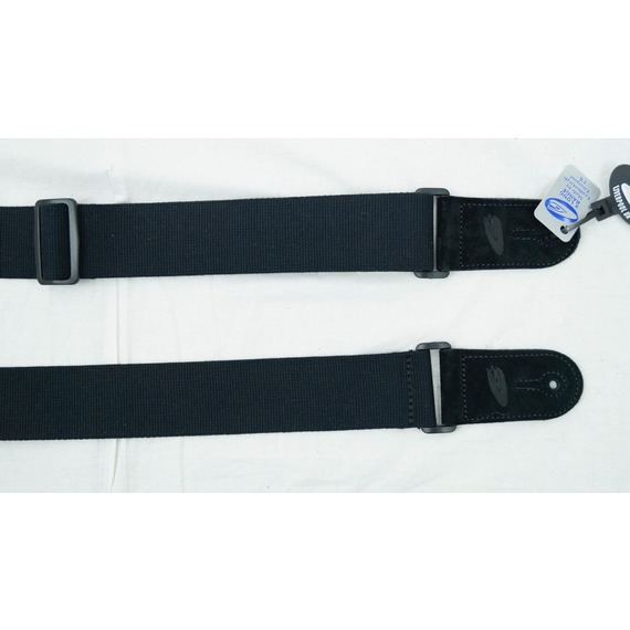 Leather Graft Adjustable Cotton Web Guitar Strap