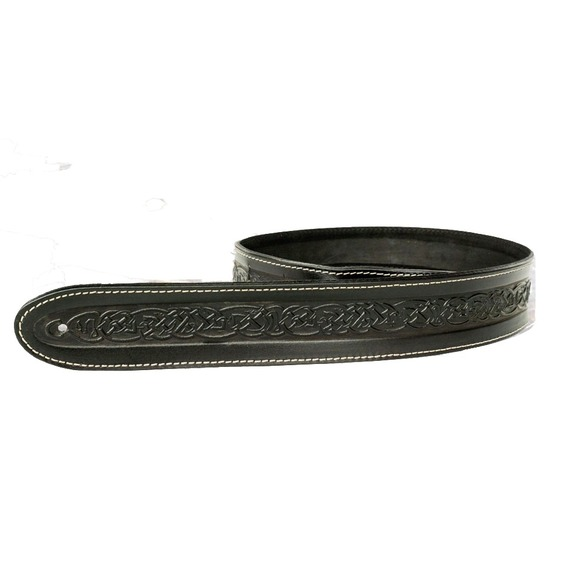 Leather Graft Embossed Guitar Strap