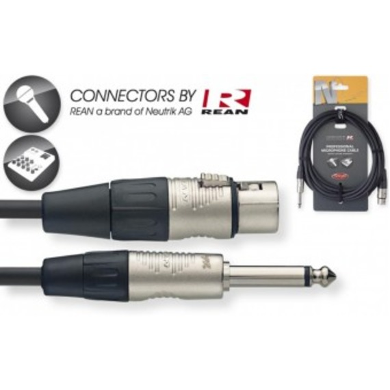 """Stagg N-Series Microphone Cable XLR - 1/4"""" Mono Jack"""