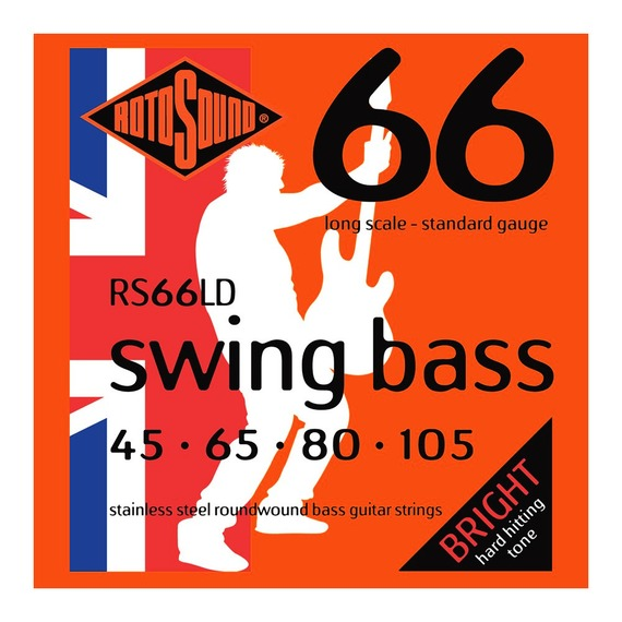 Rotosound RS66LD Swing Bass Stainless Steel 45-105 Bass Strings