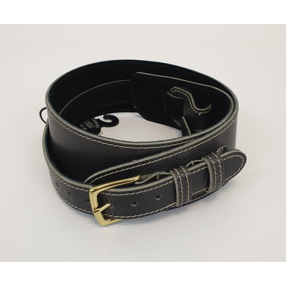 Leather Graft Heavy Hyde Road Worn Guitar Strap BUCKLE
