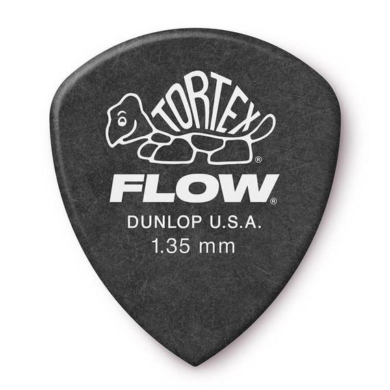 Jim Dunlop Tortex FLOW Guitar Picks 12 Pack - 1.35mm Black