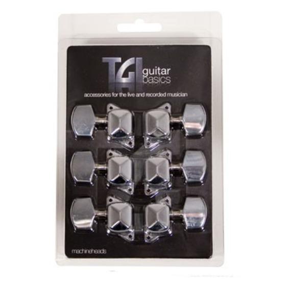 TGI Acoustic Machine Head Set 3 A Side - Chrome