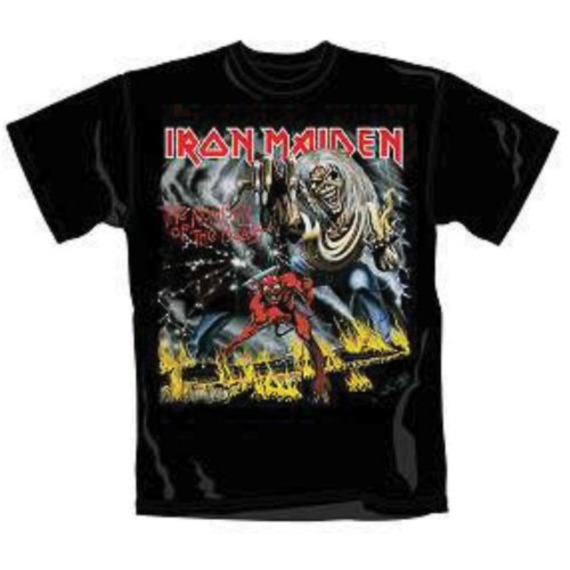 Official Iron Maiden Number of the Beast T-Shirt - MEDIUM