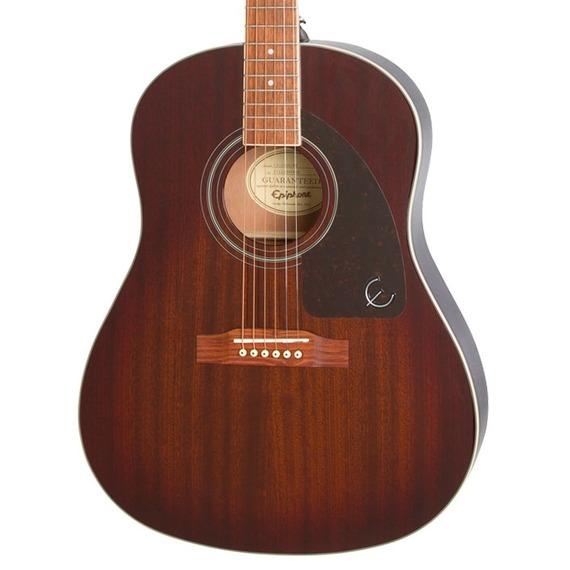Epiphone AJ-220S Solid Top Acoustic Guitar - Mahogany Burst