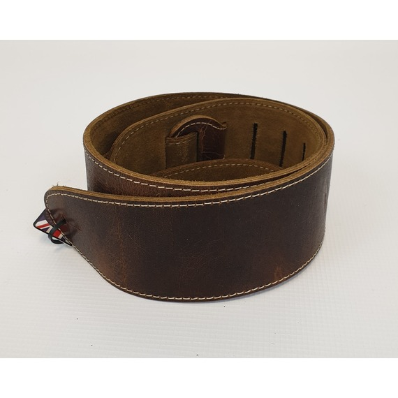 Leather Graft Heavy Hyde Road Worn Guitar Strap