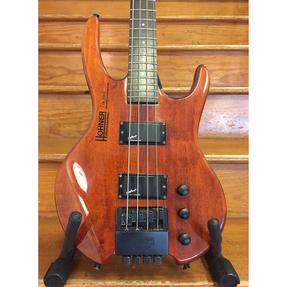 SECONDHAND Hohner 'The Jack' Headless 4 string Bass, Mahogany