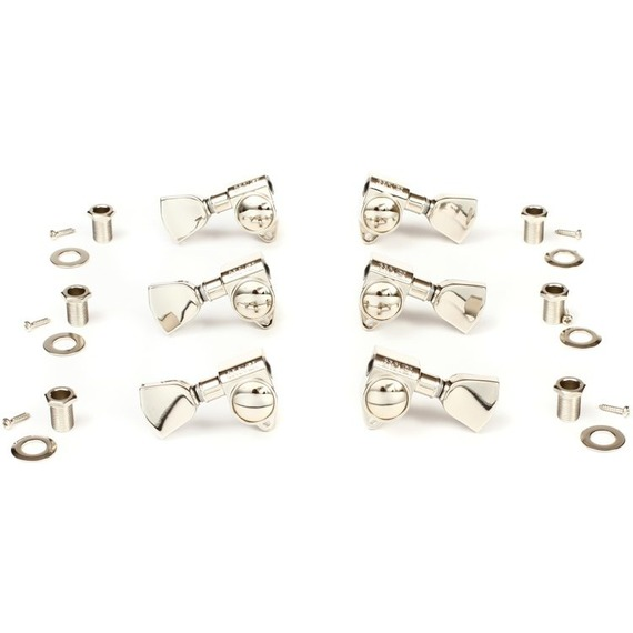 Gibson Modern Machine Head Set with Metal Buttons Nickel - 3 A Side