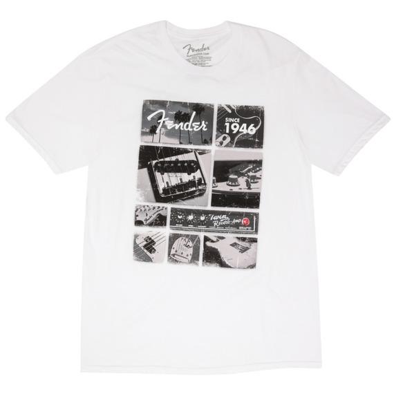 Fender T-Shirt - Vintage Parts / White