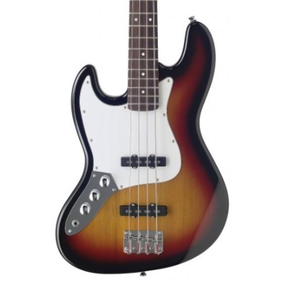 Stagg B300 Left Handed J Bass - Sunburst