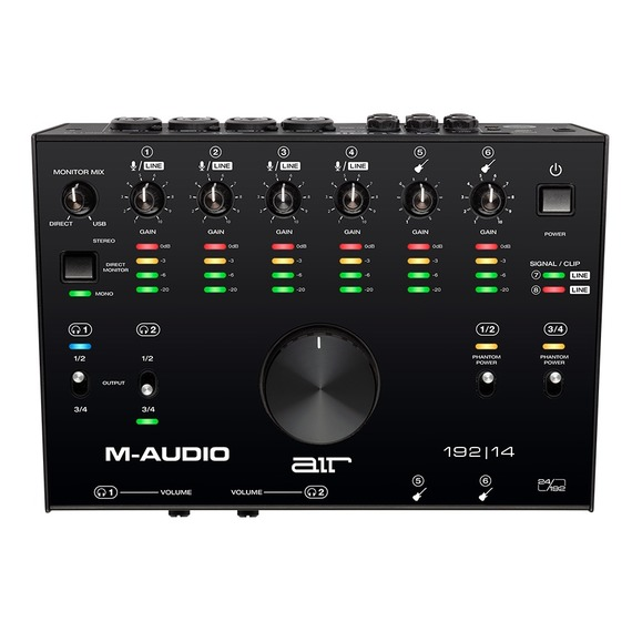 M-Audio AIR 192|14 - 8 In 4 Out USB Audio Interface w/MIDI