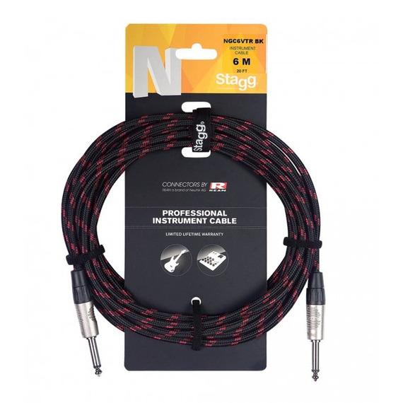 Stagg N-series Vintage Tweed Black Instrument Cable