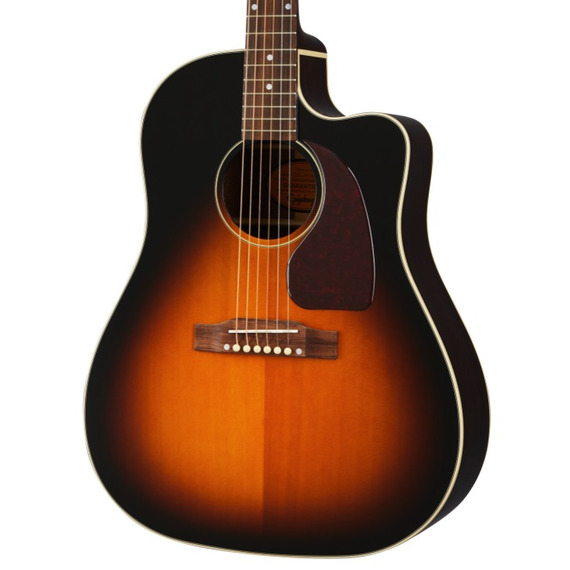 Epiphone Inspired by Gibson J45 EC All-Solid Cutaway Electro Acoustic