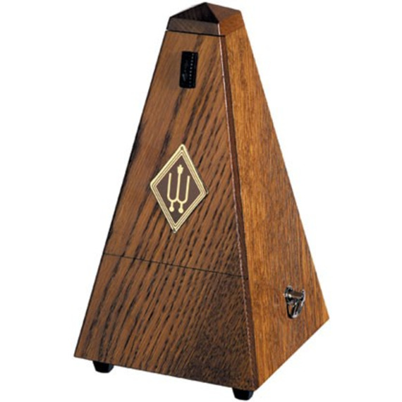 Wittner Solid Wood Pyramid Metronome WITH BELL - Brown Oak Matt Silk