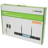 Citronic Tuneable UHF Dual Beltpack with Wireless Mics