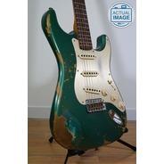 Fender Custom Shop Custom Shop 59 Heavy Relic Strat - Aged Sherwood Green Metallic