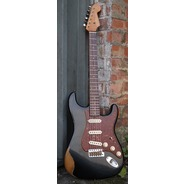 Fender Custom Shop 2018 Ltd Ed 1960 Roasted Heavy Relic Strat - Black / Rosewood