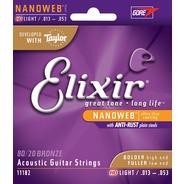 Elixir HD Light NanoWeb Acoustic Strings - 80/20 Bronze