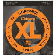 D'addario ECB82 Chrome Flat Wound Bass Strings - 50-105