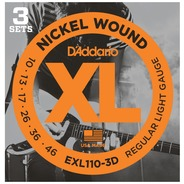 D'addario EXL110-3D Electric Guitar Strings 10-46 - 3 Sets