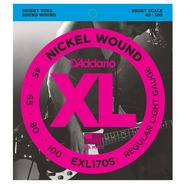 D'addario EXL170S Electric Bass Short Scale Strings - 45-100