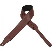 Levy's M26BL Leather Guitar Strap - Burgundy