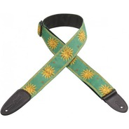 Levy's MPJG-Sun Weave Guitar Strap - Green