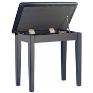 Stagg Piano Bench with Lift up Top - Satin Black
