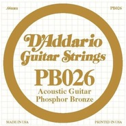 D'addario Phosphor Bronze Acoustic Single Strings