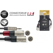 Stagg N-Series Stereo Mini Jack - 2 x Male XLR Cable