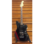 SECONDHAND Fender Blacktop Jazzmaster Special Edition, Black with racing stripe