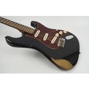 Fender Custom Shop 2018 Ltd Ed 1960 Roasted Heavy Relic Strat - Black / Rosewood