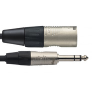 """Stagg N-Series Male XLR - Stereo 1/4"""" Jack Cable"""